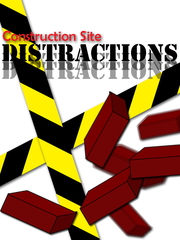 Construction site safety. Avoid distractions for a safer worksite.